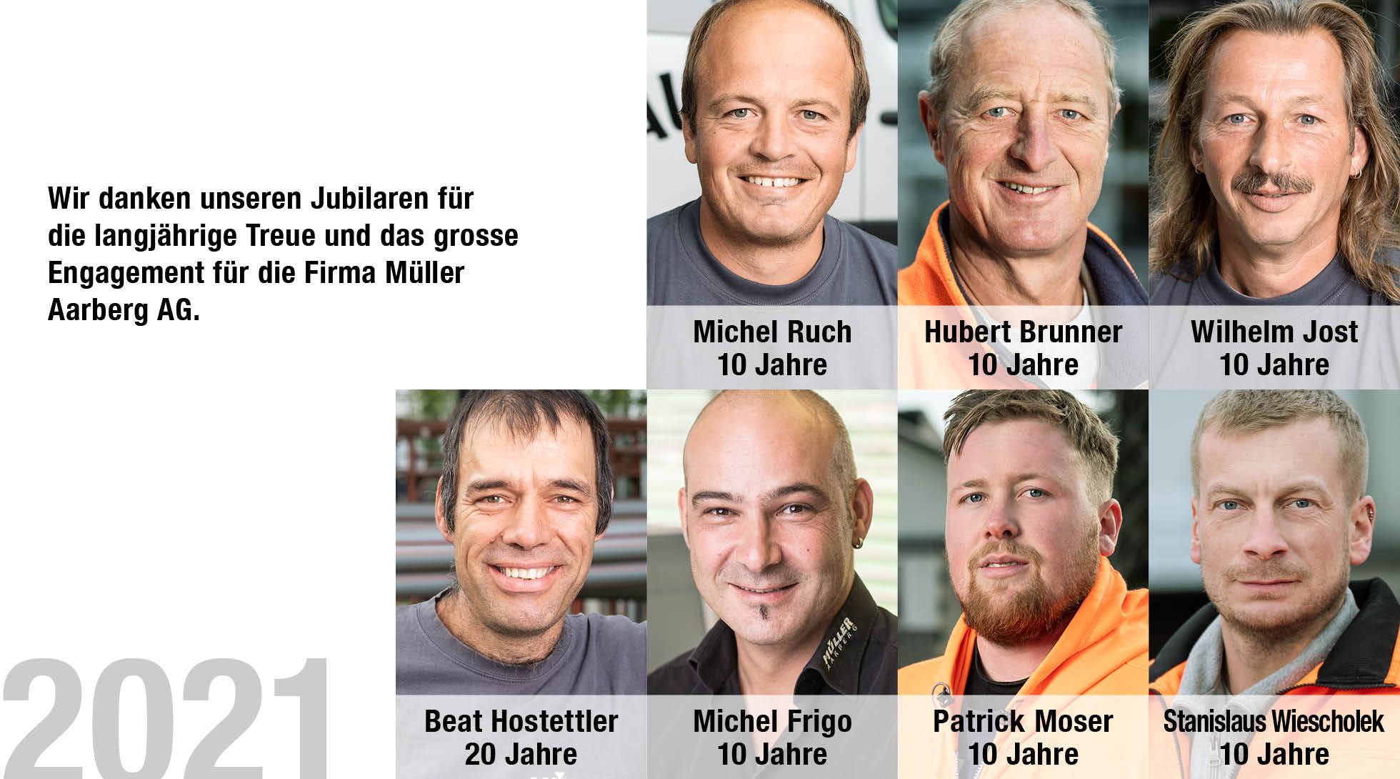 Jubilare Müller Aarberg 2021